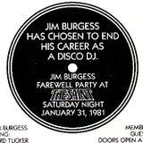 JIM BURGESS live at the saint 2°, new york usa 31.01.1981