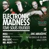 Mili Sefic - Live @ Electronic Madness (October 2012) - OKC Abrasevic, Mostar BiH