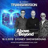 Above & Beyond - Transmission Australia 2019 (Free) → www.facebook.com/lovetrancemusicforever