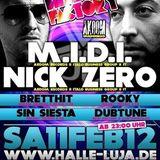 Nick Zero @ live set in HALLE LUJA Club - Dusseldorf (DE)