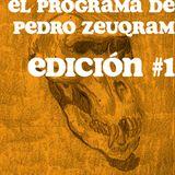 EL PROGRAMA DE PEDRO ZEUQRAM; EDICIÓN #1