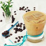 Cold Coffee With Coconut Milk