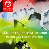 Koncertblog Best of Drum'n'bass 2015 Session by dj Ren & artwork by Orsolya Oláh