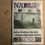"""Nerikes Allehanda publicerar """"örebromannens"""" namnbyte, svajande namnlinje om kulturprofilen, GDPR på"""