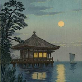 The bamboo hut by the sea