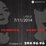 Nastia Uvarova b2b Karina Saakyan - Live dj set Unique club [07.11.2014]