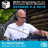 DJ Nightowwl WKDU EMM Marathon October 2018