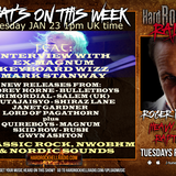 Hard Rock Hell Radio - Heavy Rock Rapture -  Jan 23 2018 feat Mark Stanway interview & new releases