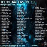 TECHNO NATIONS UNITED - Midnight Express fm ® 1st anniversary - DarK SkYLiNe