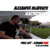 Alexander Mladenov / Electricfence @ Freie Luft - Sommer RAVE - Vienna 15.09.2018