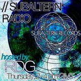 RDG - Subaltern Radio 30/04/2015 on SUB.FM
