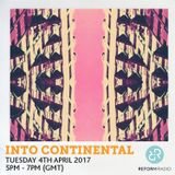 Into Continental Tuesday 4th March 2017