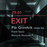 Frank Savio @ EXIT with Pär Grindvik, MTW Club (29-01-16) Live Recording