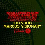 LIONDUB & MARCUS VISIONARY - 04.19.16 - KOOLLONDON [JUNGLE DRUM & BASS]