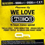 DJ Dean @ AH.FM - We Love Techno Club Day - 16.12.2015