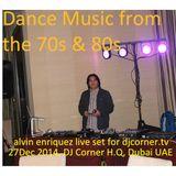 Retro Music by Alvin Enriquez (live stream mix set 27Dec2014 djcorner.tv)