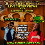 ELDIE ANTHONY JOINS DJ JAMMY FOR A LIVE INTERVIEW ON ZIONHIGHNESS RADIO ON 010714
