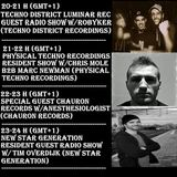 20160126 21-22h Physical Techno Recordings Exclusive Resident Radio Show w/Chris Mole & Marc Newman