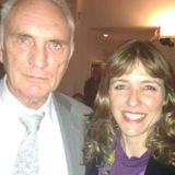 Suzanne Hunters talks with screen icon Terence Stamp
