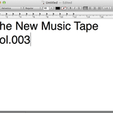 The New Music Tape  Vol.003