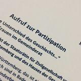 """FemFM 17/03/19   """"...  Ohne Unterschied des Geschlechts ...""""  Frauen im Gemeinderat"""