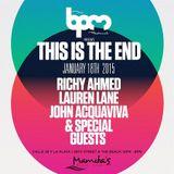 Nitin & John Acquaviva  - Live At This Is The End, Mamitas (The BPM Festival 2015, Mexico) - 18-Ja
