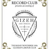 Glossop Record Club - Gizeh Records (November 2016)