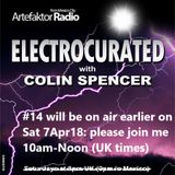 Electrocurated #14 ArtefaktorRadio.com 10am-Noon Sat 7Apr18