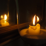 Burning candles, waiting for summer.