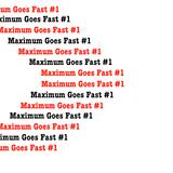 Maximum Goes Fast #1