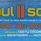 Steve Hodson LIVE!! @ Soul II Sole - Saturday 13 October 2018