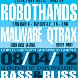 Robothands - Live @ Bass & Bliss - 08/04/2012