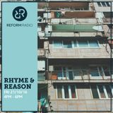 Rhyme & Reason 21st October 2016