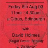 David Holmes  Rhumba, 6th Aug '93 Citrus Club @ Edinburgh