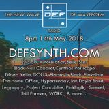 DEFSYNTH.COM's New Wave of Waveform Radio Show - 14th May 2018