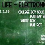 White Boy b2b Mal Rot - Zweite Life-Elektronische Musik (15.02.2019) @ Frosch (Frankfurt Oder)