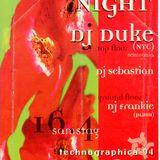 DJ-Duke US House Night im Cafe Moskau - Technografika - 16-4-1994