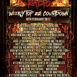 Hard Rock Hell Radio Top 20 Charts - Week #01 (18th Feb 2017)