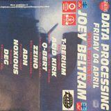 """T-Berium & Joey Beltram at """"Data Processing"""" @ Fuse (Brussel - Belgium) - 4 April 1997"""
