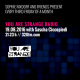 You Are Strange Radio w/ Sascha Ciccopiedi 19.08.2016