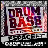 espace (bassworx dxb) @ Drum'n'Bass Forever - 10.08.2017 - Vavavoom - Zakopane, Poland