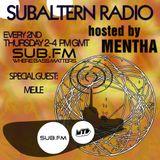 Mentha b2b Mejle - Subaltern Radio 30/10/14 on SUB FM