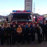 Clonbonny NS interviewing firefighters