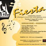 Renos chats to Kevin Tait about the Fiesta Concert to raise funds for Ruth First Jeppe Scholarships