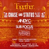 Chase & Status ft. MC Rage - live at Monumental 2018 feat. Together, Off Week, Barcelona - 17-Jun-