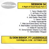 Session 34-A Night of Vocal House-Peak Hour DJ Don Bishop 10/2003