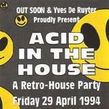 """Yves De Ruyter at """"Acid In The House"""" @ Cherry Moon (Lokeren - Belgium) - 29 April 1994"""