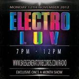 stevie loco november 2012 electro luv mix live on bass generator records radio