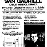 July 16, 2016 - Radio Teopoli, AM530 - 50th Anniversary of the Feast of St. Gabriel in Toronto