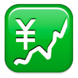 The Emoji Suite: Chart with Upwards Trend and Yen Sign
